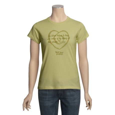 Trust Your Journey Eleanor's Journey T-Shirt - Organic Cotton, Short Sleeve (For Women)
