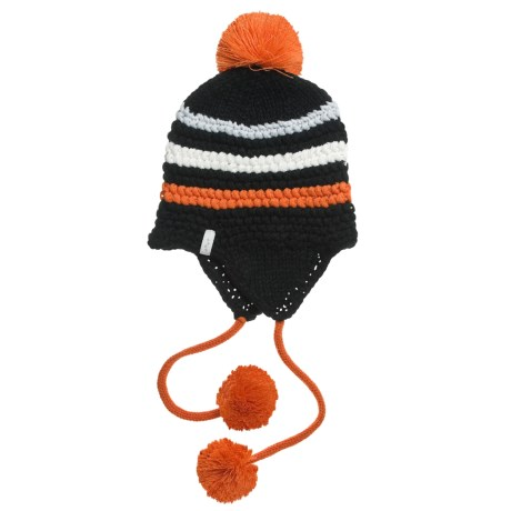 Foursquare Skinny Checks Beanie Hat (For Women)