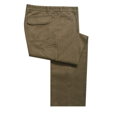 Bugatchi Uomo Cotton Pants - Flat Front, Unhemmed (For Men)