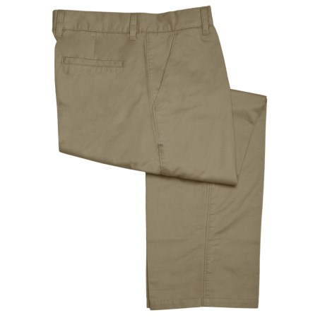Bugatchi Uomo Cotton Casual Pants - Flat Front (For Men)