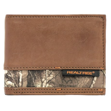 Realtree Slim Passcase Trifold Wallet - Camo Accent (For Men)