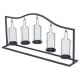 "UMA Metal-and-Glass Votive Candle Holder - 12x24"""