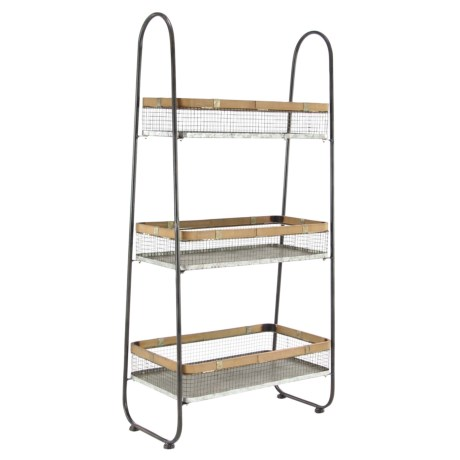 UMA Metal and Wood Basket Stand - 23x48""