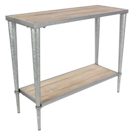 "UMA Metal and Wood Console Table - 39x32"""