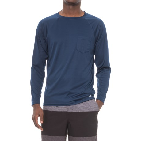 Trunks Surf & Swim Co Crew Neck Rash Guard - UPF 20+, Long Sleeve (For Men)