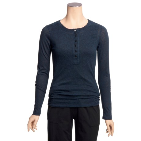 prAna Adela Henley Shirt - Long Sleeve (For Women)