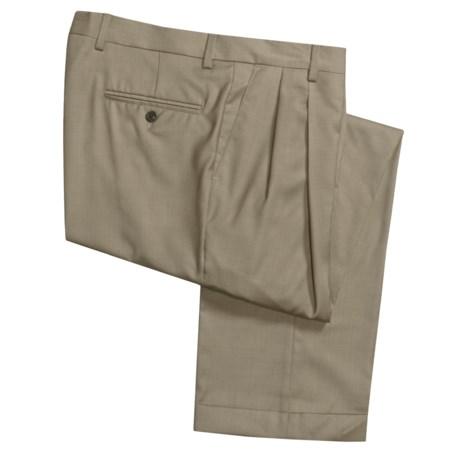 Barry Bricken Wool Tic Weave Pants - Double Reverse Pleats (For Men)