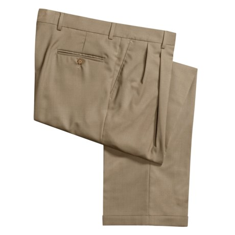 Barry Bricken Tropical Wool Dress Pants - Double Reverse Pleats (For Men)
