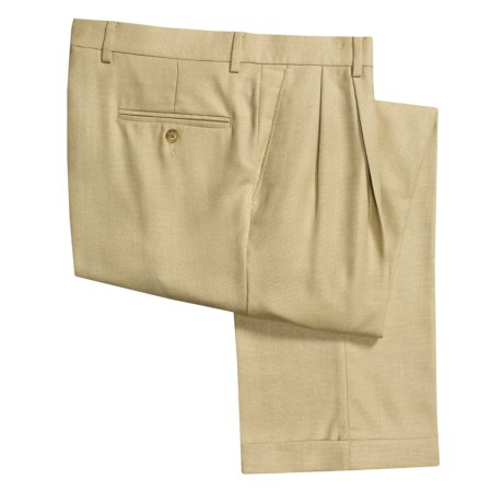 Barry Bricken Wool Heather Pants - Double-Reverse Pleats (For Men)