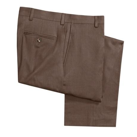 Barry Bricken Wool Dress Pants - Covert Twill, Flat Front (For Men)