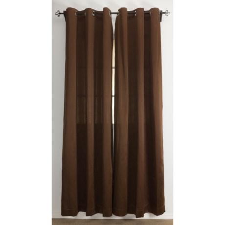 """Home Studio Eldorado Sateen Curtains - 106x84"""", Grommet-Top"""