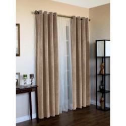 """Habitat Angel Faux-Velvet Curtains - 84"""", Grommet-Top"""