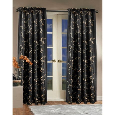"""Commonwealth Home Fashions Embroidered Baroque Curtains - 84"""", Pole Top"""
