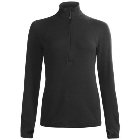 Terramar Grid Fleece Base Layer Top - Zip Neck, Long Sleeve (For Women)
