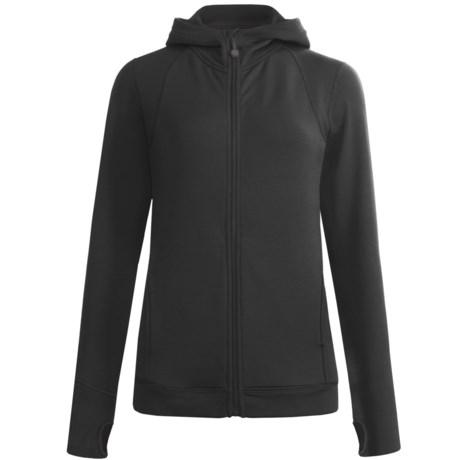Terramar Grid Fleece Hoodie - Zip Front (For Women)