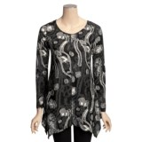 Sno Skins Textured Knit Eyelash Tunic Shirt - Long Sleeve (For Women)