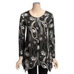 Sno Skins Textured Knit Eyelash Tunic Shirt - Long Sleeve (For Women)