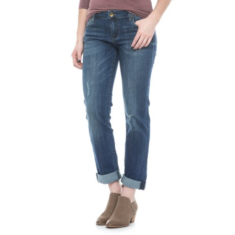 KUT from the Kloth Catherine Distressed Boyfriend Jeans (For Women)