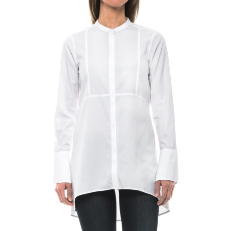Foxcroft Cally Solid Stretch Non-Iron Tunic Shirt - Long Sleeve (For Women)