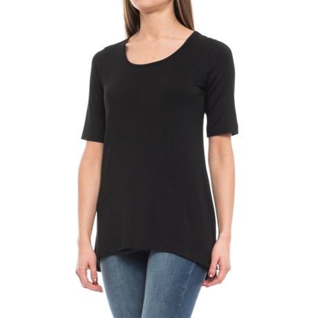 Willi Smith Scoop Neck Shirt - Elbow Sleeve (For Women)