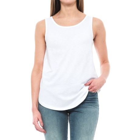 St. Tropez West Modern Slub Tank Top - Cotton-Modal (For Women)