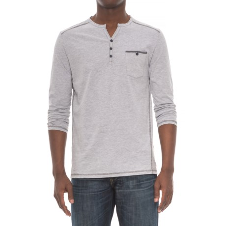 Michael Brandon Collection Contrast Henley Shirt - Long Sleeve (For Men)