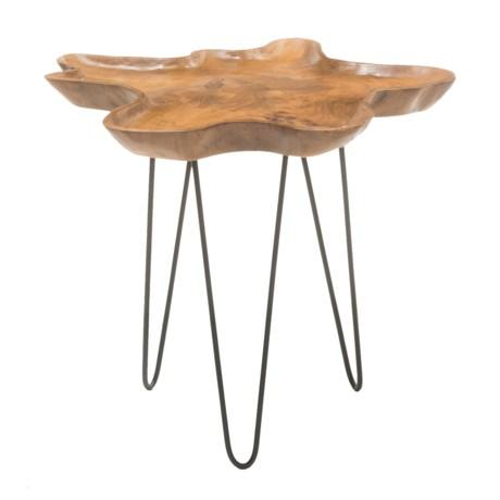Jeffan Allure Side Table with Metal Legs