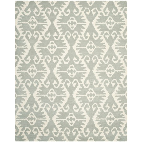 Safavieh Wyndham Collection Grey and Ivory Area Rug - 8x10', Hand-Tufted Wool
