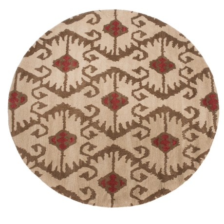 Safavieh Wyndham Collection Ivory and Brown Square Area Rug - 7x7', Hand-Tufted Wool