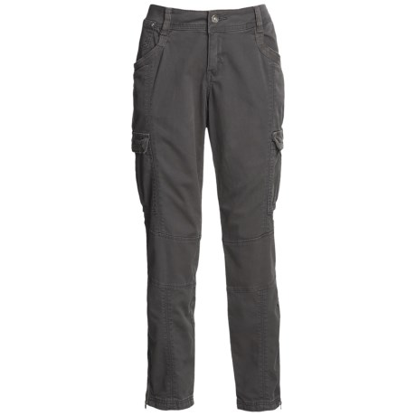 Buffalo Canon Cargo Pants - Ankle Zips, Cotton (For Women)
