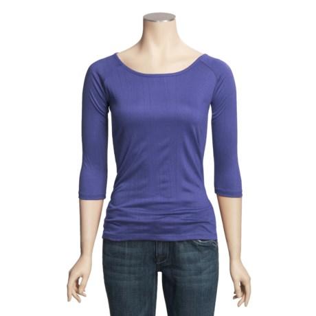 Boat Neck Shirt - 3/4 Sleeve (For Women)