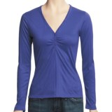 Specially made V-Neck Henley Shirt - Long Sleeve (For Women)