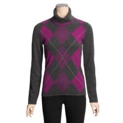 Lauren Hansen Cashmere Turtleneck Sweater - Argyle (For Women)