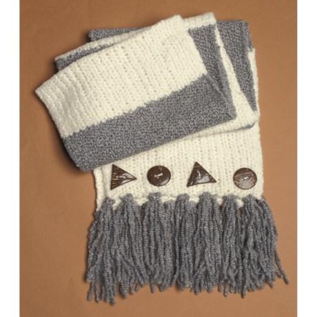 Lauren Hansen Wool-Alpaca Long Scarf - Button Detail (For Women)