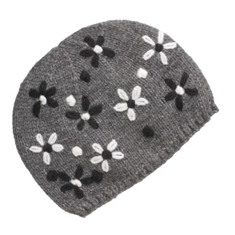 Lauren Hansen Embroidered Knit Cap (For Women)