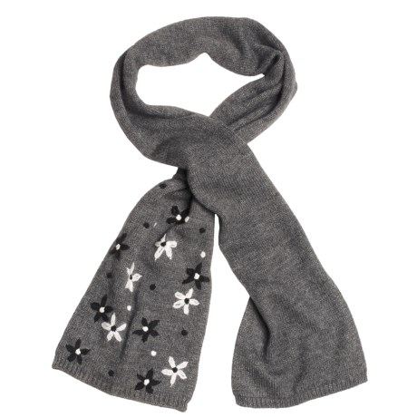 Lauren Hansen Embroidered Knit Scarf - Loop-Through (For Women)