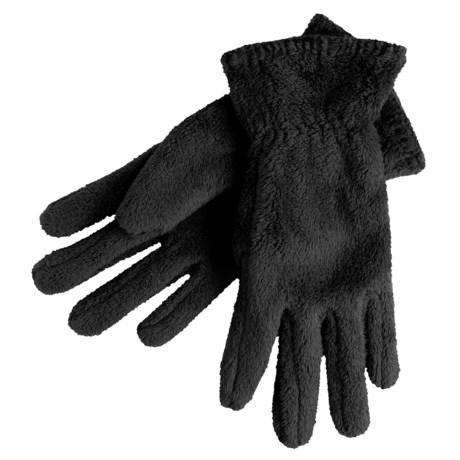 White Sierra Cozy Fleece Gloves (For Women)