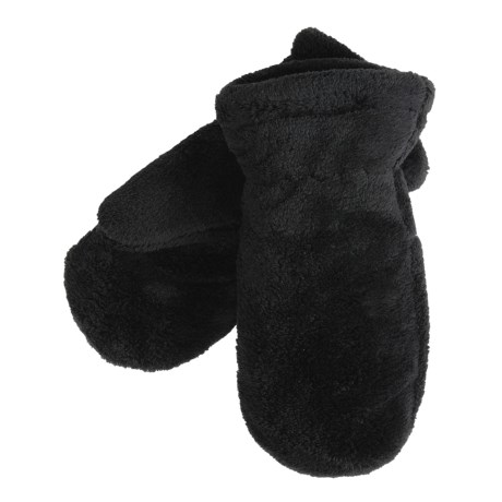 White Sierra Cozy Fleece Mittens - Reversible (For Women)