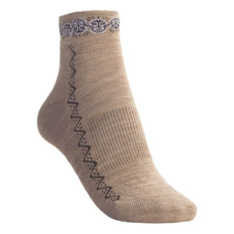 Point6 Tribal Heads Band Lightweight Socks - Mini Crew (For Women)