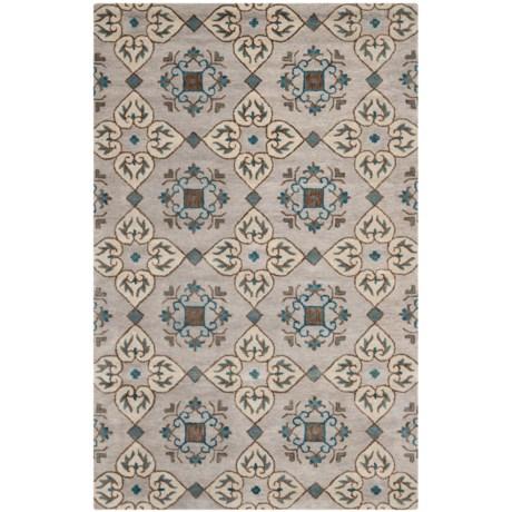 Safavieh Wyndham Collection Multi-Beige Area Rug - 5x8', Hand-Tufted Wool