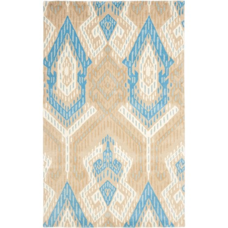 Safavieh Wyndham Collection Blue and Ivory Area Rug - 5x8', Hand-Tufted Wool
