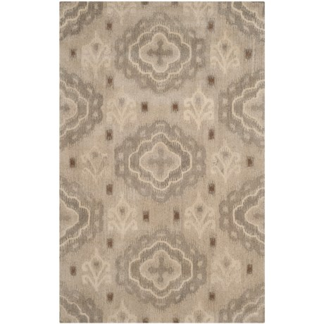 Safavieh Wyndham Collection Silver Area Rug - 5x8', Hand-Tufted Wool