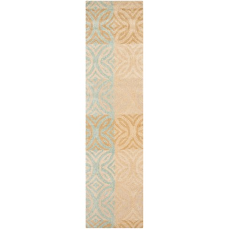 "Safavieh Wyndham Collection Multi-Beige Floor Runner - 2'3""x9', Hand-Tufted Wool"
