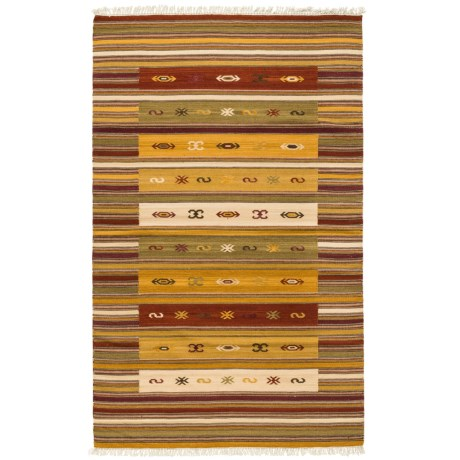 Safavieh Kilim Collection Multi-Burgundy Area Rug - 5x8', Hand-Tufted Wool