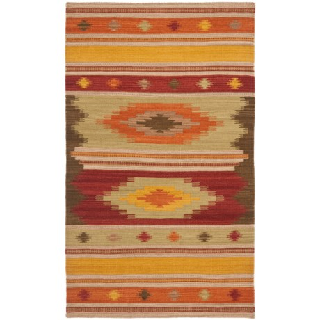 Safavieh Kilim Collection Multi-Brown Scatter Accent Rug - 3x5', Hand-Tufted Wool