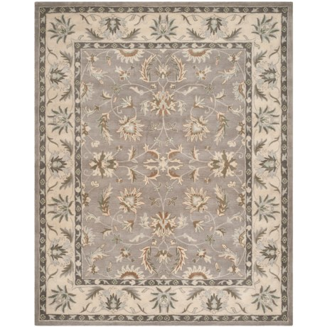 Safavieh Heritage Collection Grey and Beige Area Rug - 8x10', Hand-Tufted Wool