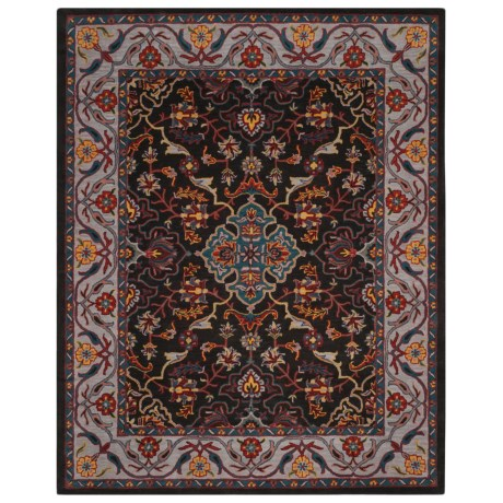 Safavieh Heritage Collection Charcoal and Ivory Area Rug - 8x10', Hand-Tufted Wool