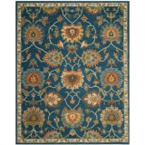 Safavieh Heritage Collection Navy Area Rug - 8x10', Hand-Tufted Wool
