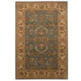 Safavieh Heritage Collection Blue and Beige Area Rug - 5x8', Hand-Tufted Wool