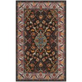 Safavieh Heritage Collection Charcoal and Ivory Area Rug - 5x8', Hand-Tufted Wool